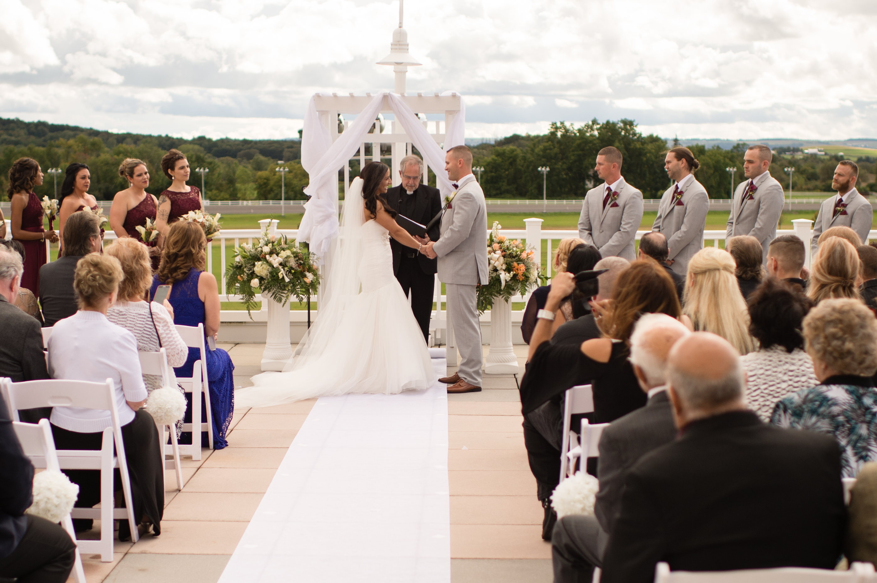 Wedding Ceremony at Vernon Downs